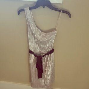 Simmering one shoulder dress